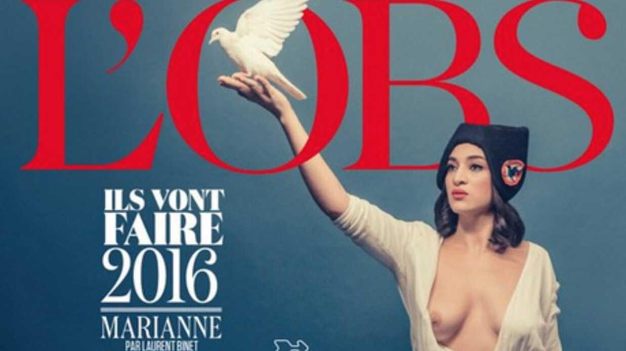 PHOTO Camélia Jordana dévoile sa poitrine en devenant la Marianne de l'Obs