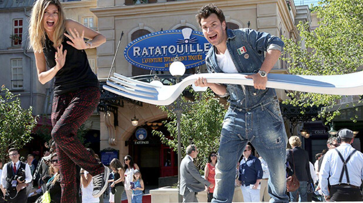 DIAPO Michaël Youn, Sonia Rolland et Djibril Cissé au lancement de l'attraction Ratatouille à Disneyland!