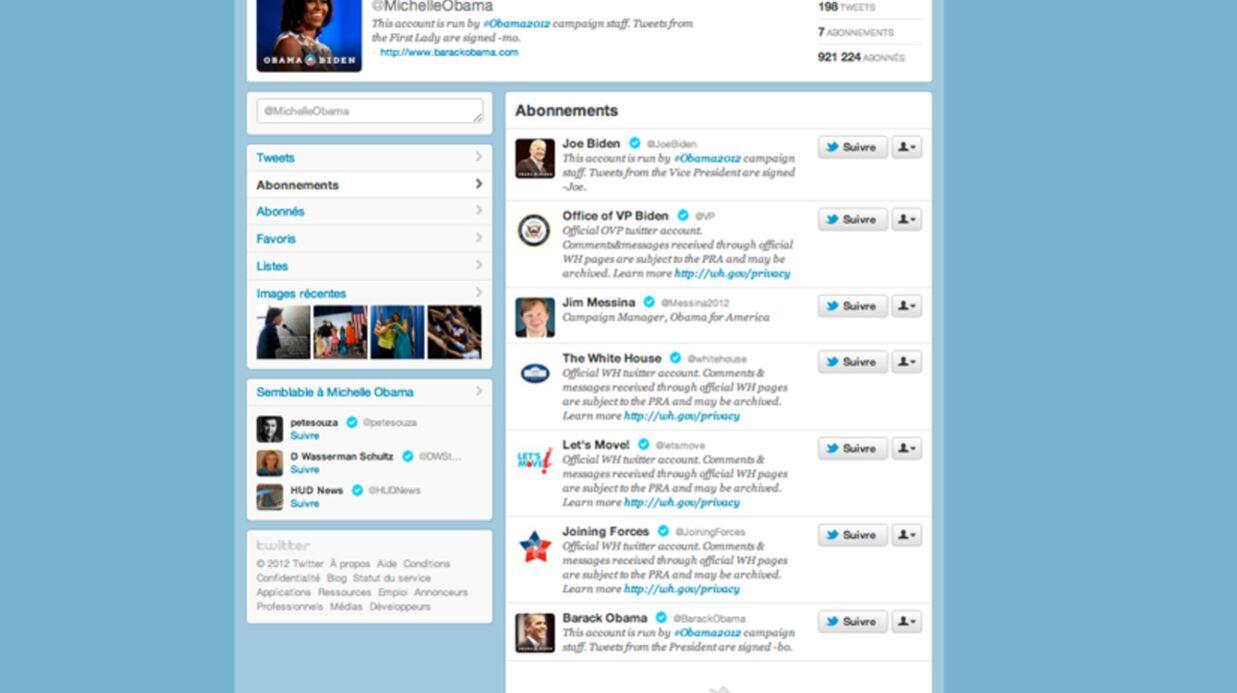 Valérie Trierweiler écrit à Michelle Obama sur Twitter