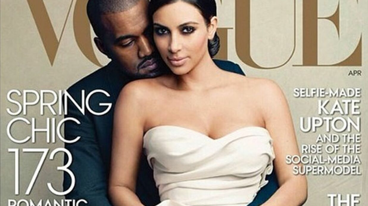 PHOTO Kim Karda­shian et Kanye West en couver­ture de Vogue