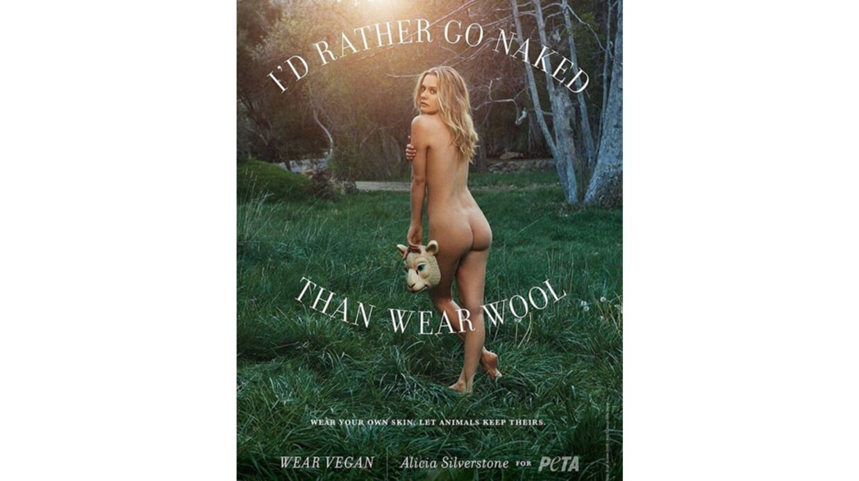 PHOTO Alicia Silverstone: la star des années 90 pose nue pour la PETA