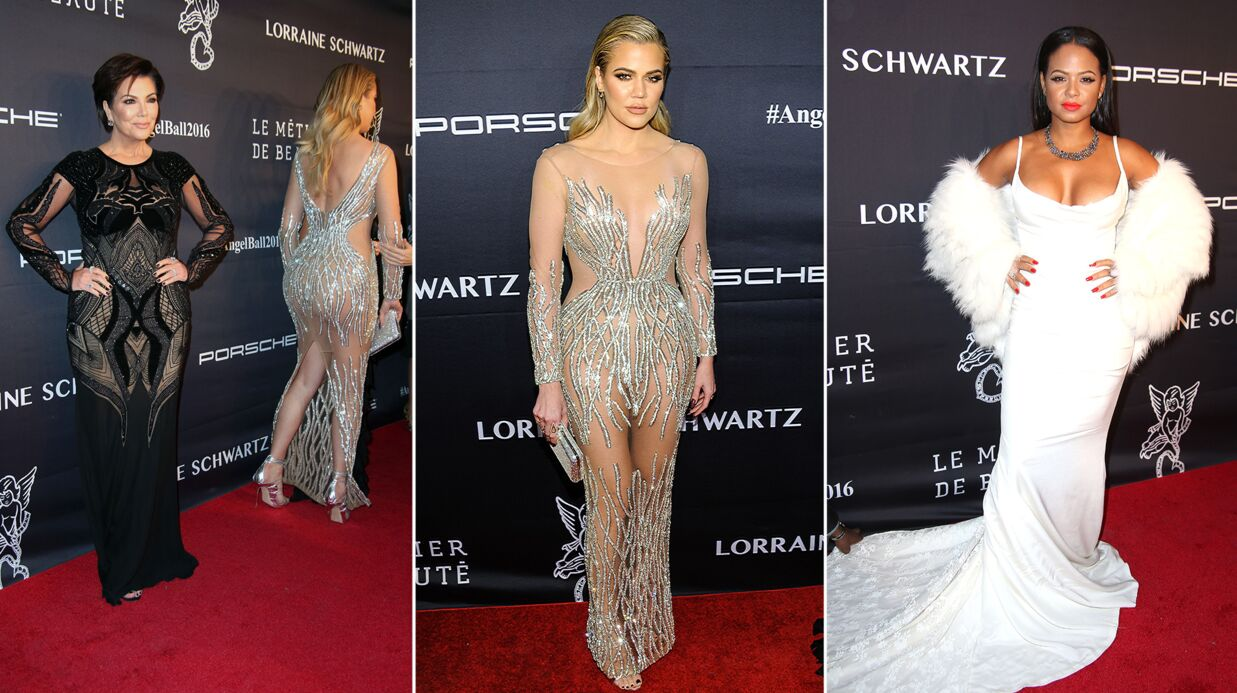PHOTOS Khloé Kardashian tout en transparence, Christina Milian glamour au Angel Ball