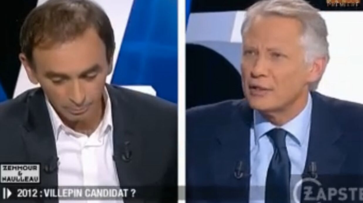 VIDEO Domi­nique de Ville­pin assi­mile Zemmour au « beauf de service »