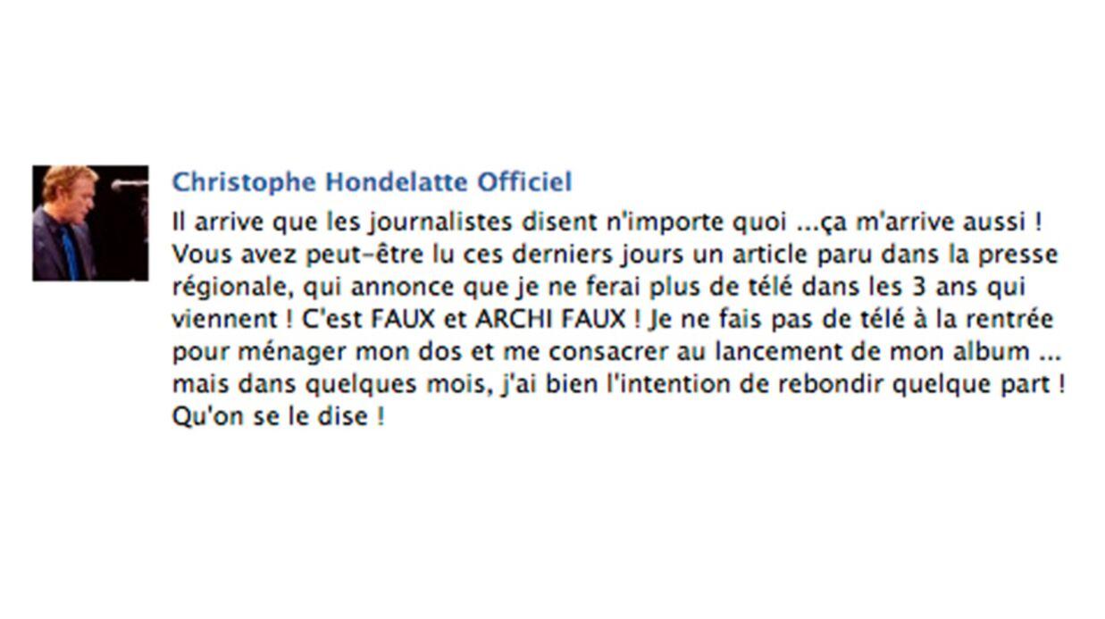 Christophe Hondelatte dément arrêter la télé