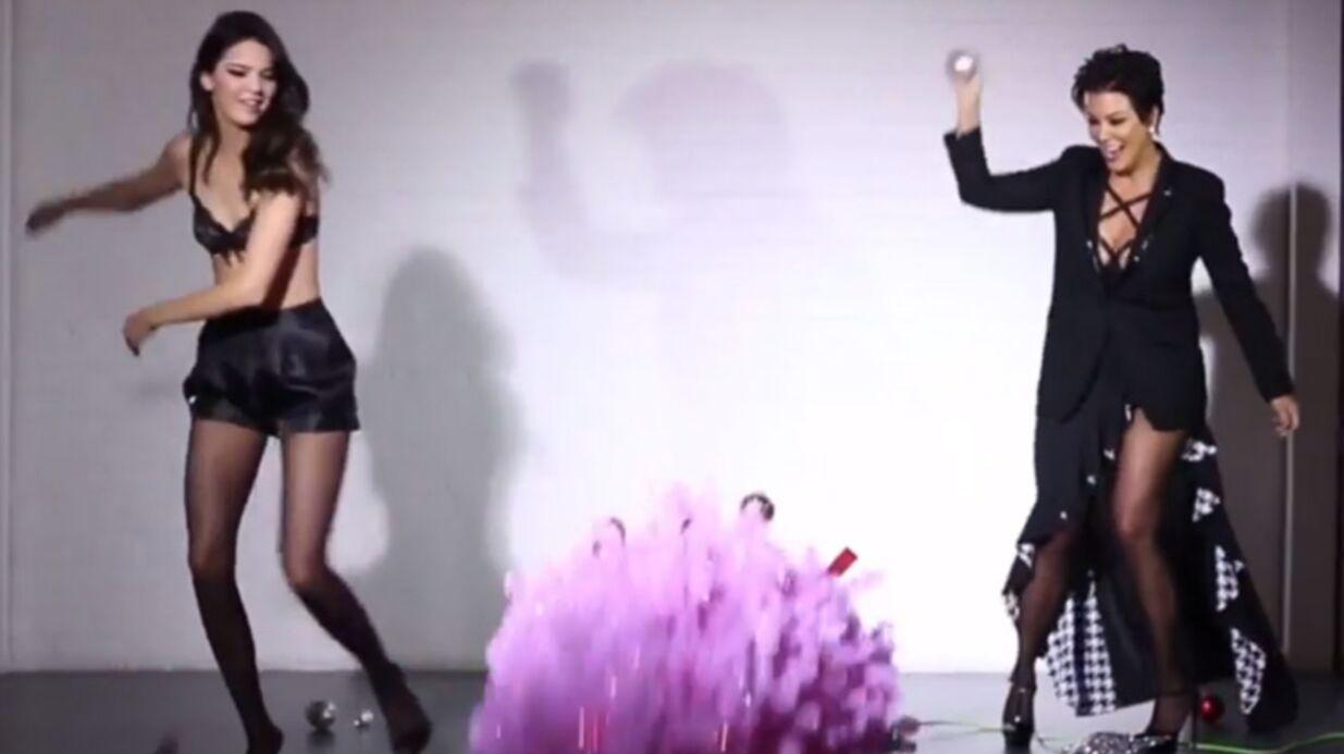 Kendall Jenner: une vidéo sexy pour Noël avec… sa mère Kris Jenner