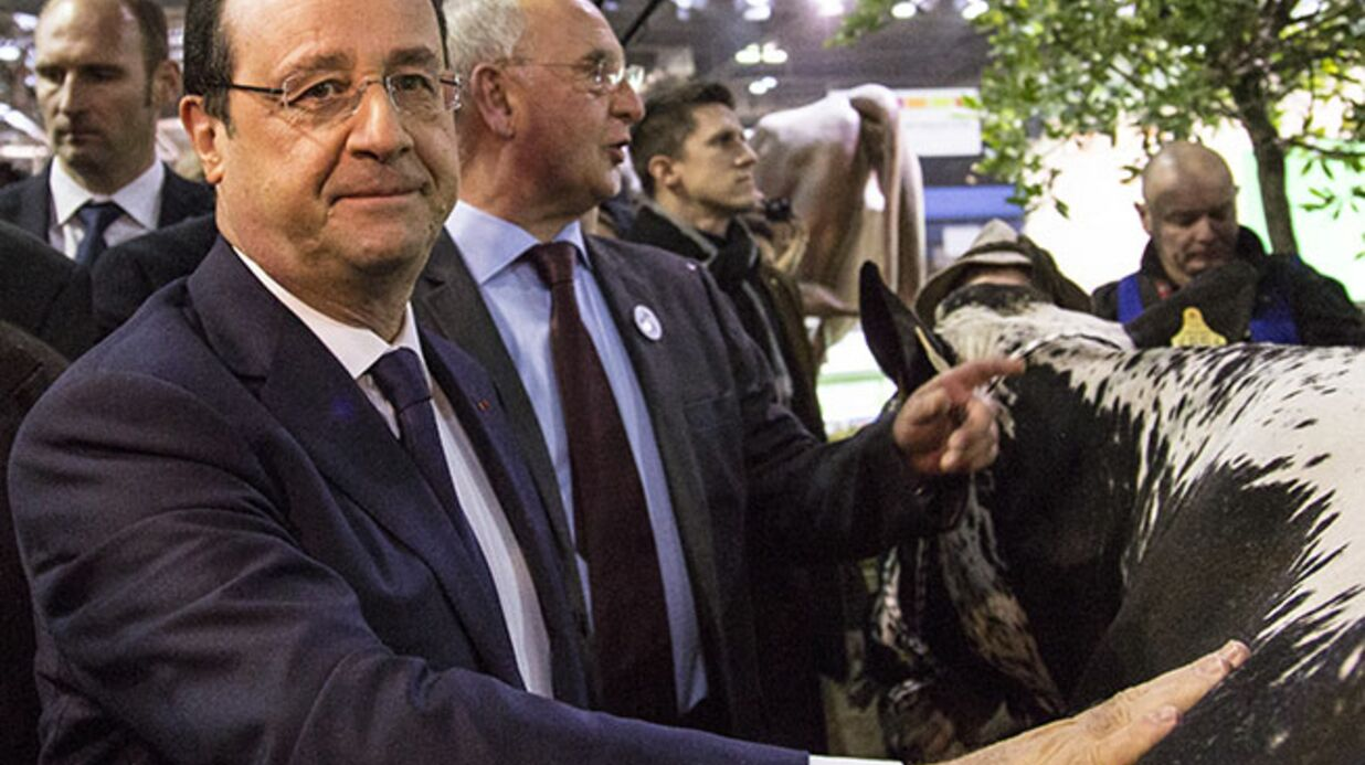 DIAPO François Hollande au salon de l'agriculture 2014