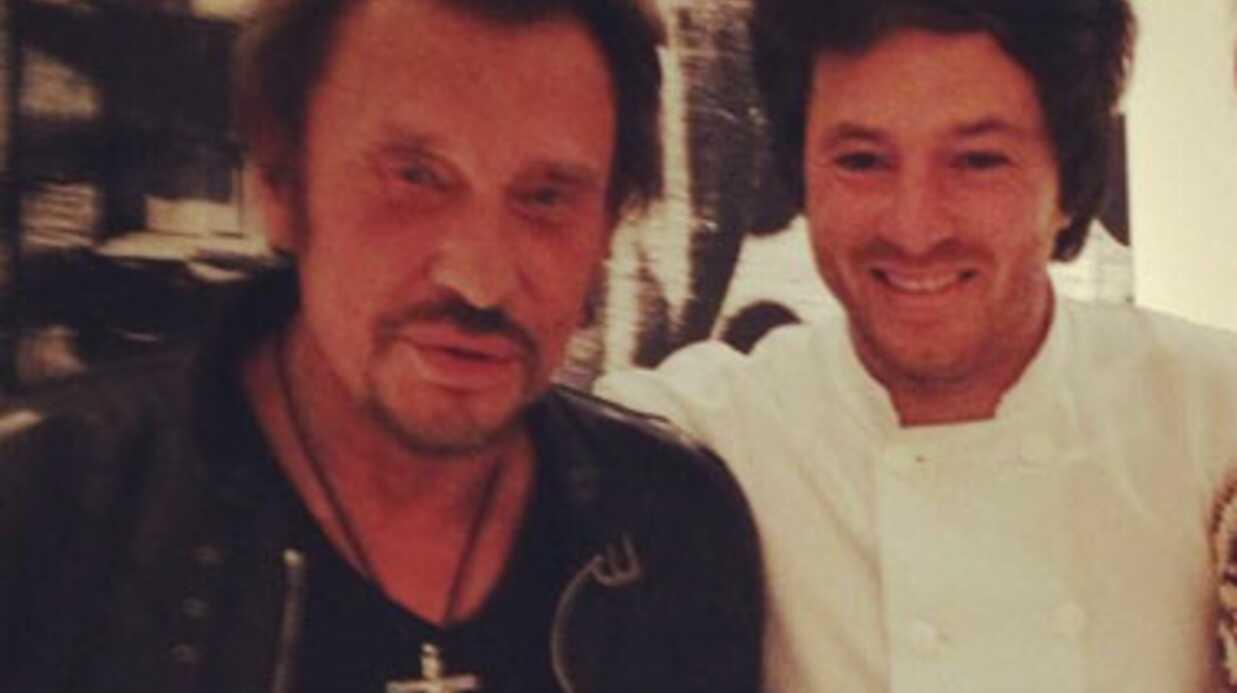 PHOTOS Johnny Hallyday se régale chez Jean Imbert (Top Chef)