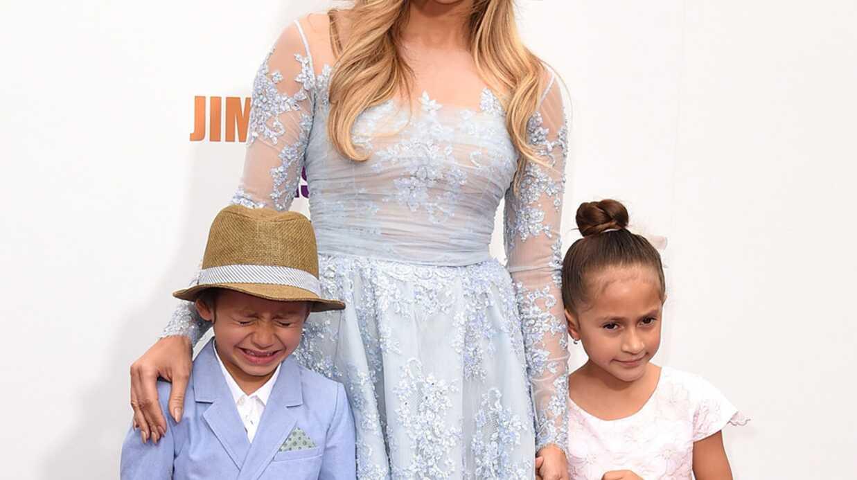 PHOTOS Jennifer Lopez et ses enfants à une avant-première: un mauvais moment pour son fils
