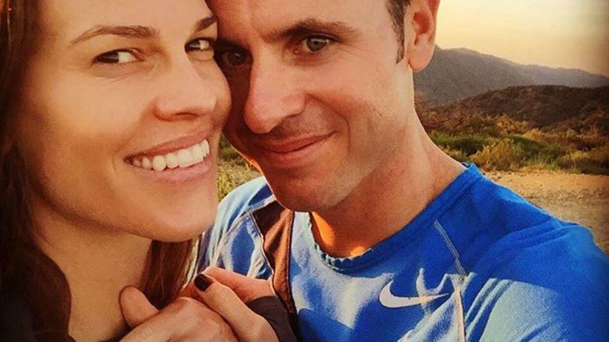 PHOTO L'actrice Hilary Swank est fiancée