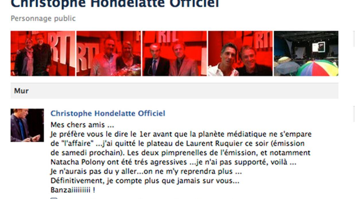 Christophe Hondelatte quitte le plateau de Laurent Ruquier