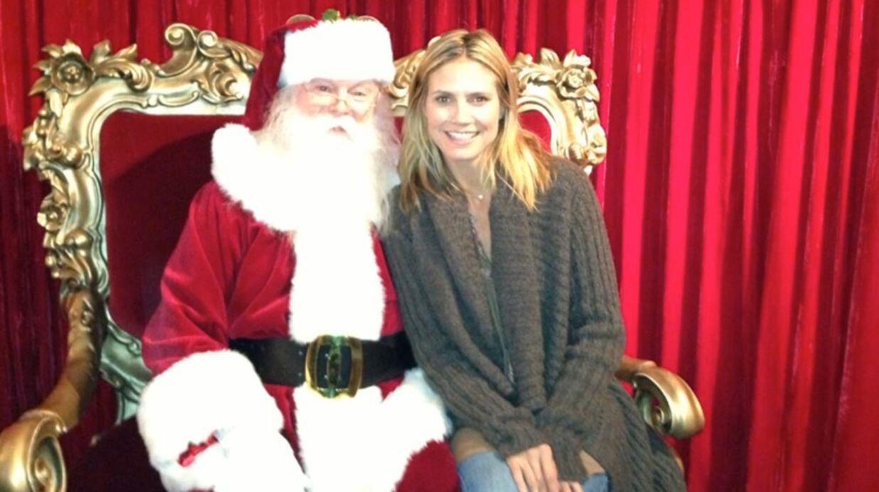 Heidi Klum et Seal ensemble pour Noël