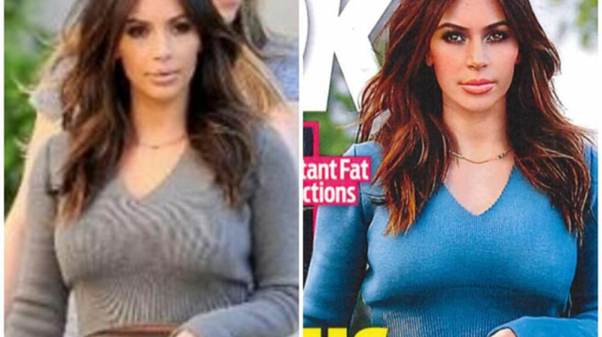 PHOTO Kim Karda­shian se plaint d'avoir été photo­shop­pée… des vête­ments