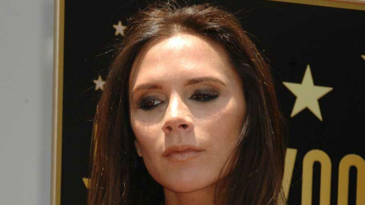 Victoria Beckham sans talons, une rareté