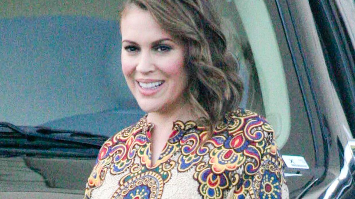 Alyssa Milano enceinte: elle prend du poids et elle aime ça