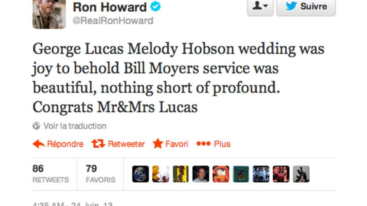 George Lucas s'est marié avec Mellody Hobson