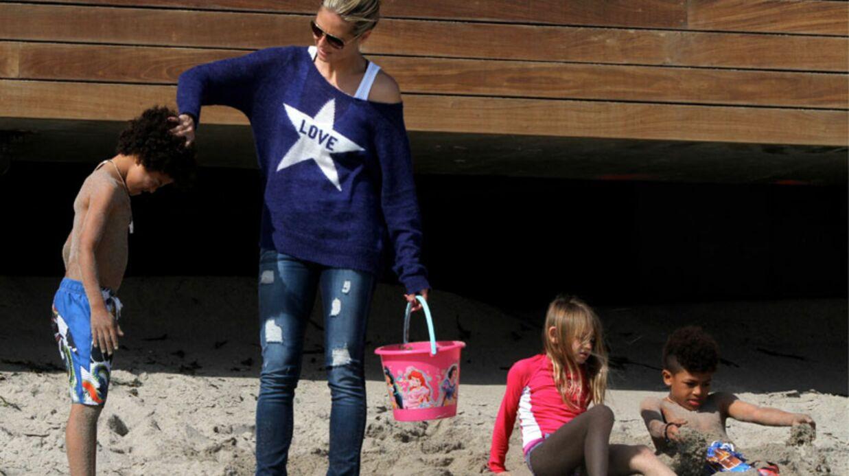 DIAPO Heidi Klum: en famille sur la plage de Malibu
