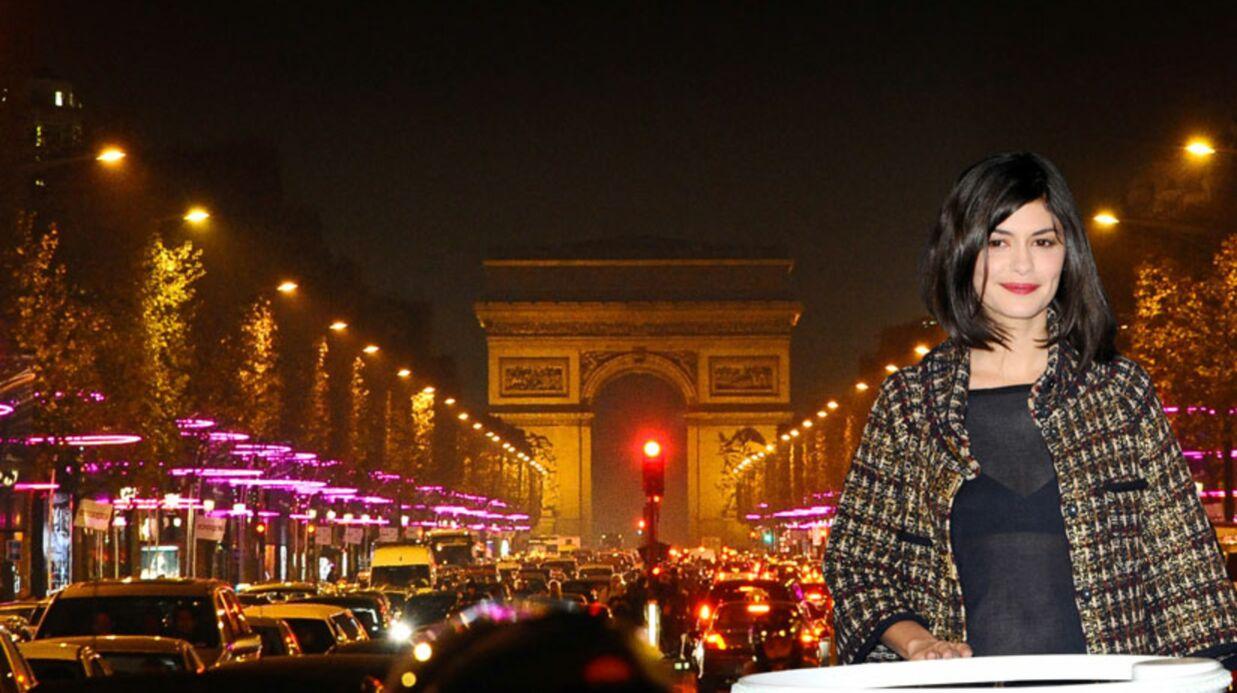 PHOTOS Audrey Tautou illumine les Champs-Elysées