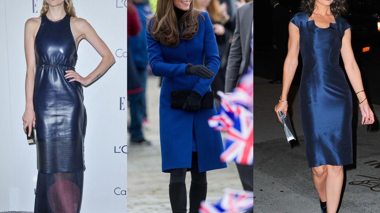 DIAPO Kate Middleton, Katie Holmes, Jaime King… toutes en bleu pour braver l'automne!