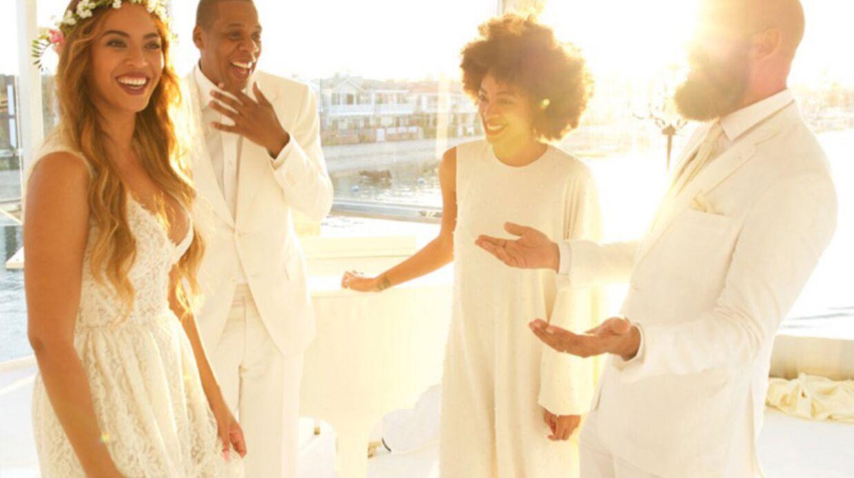 PHOTO Beyoncé sublime en blanc pour le mariage de sa mère