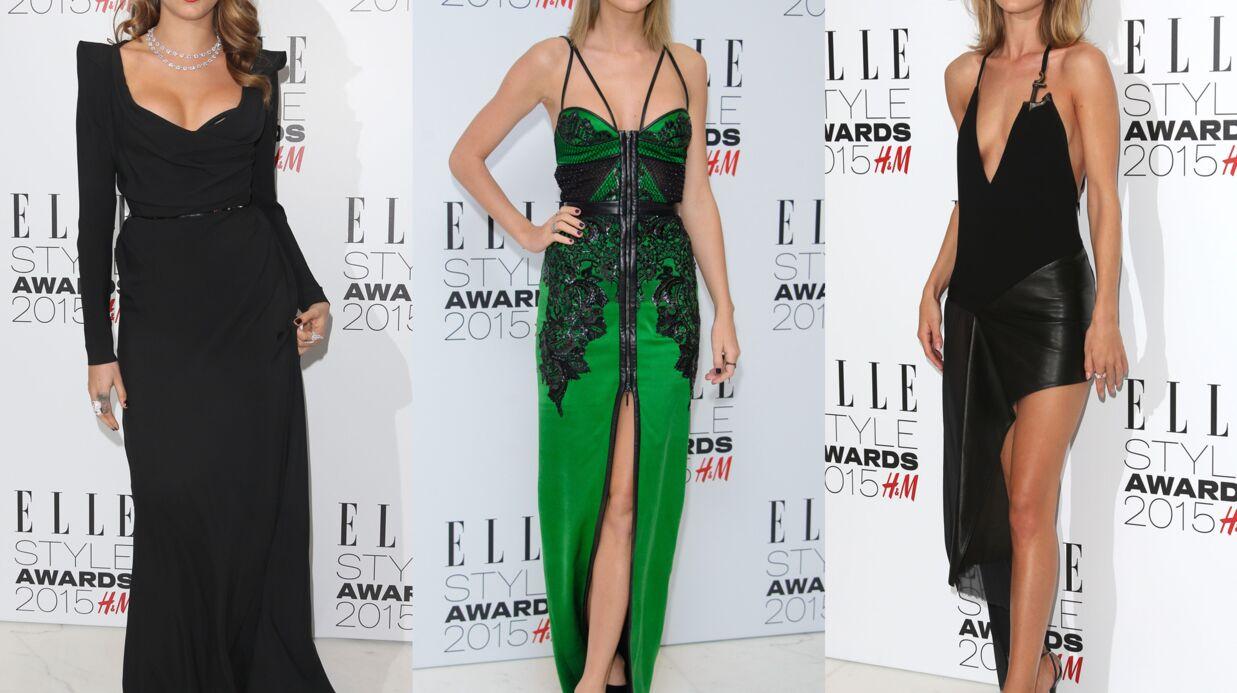 PHOTOS Cara Delevingne très décolletée, Rosie Huntington ultra sexy aux Elle Style Awards
