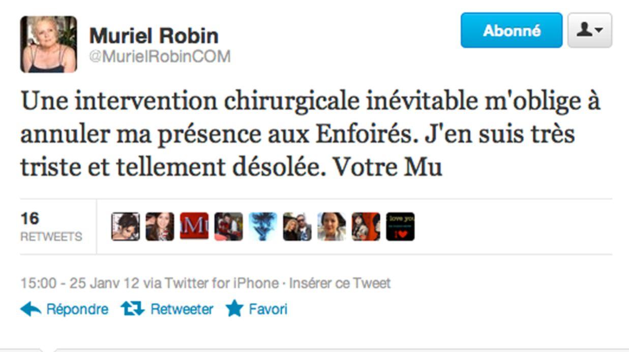 Muriel Robin annule les Enfoirés à cause de problèmes de santé