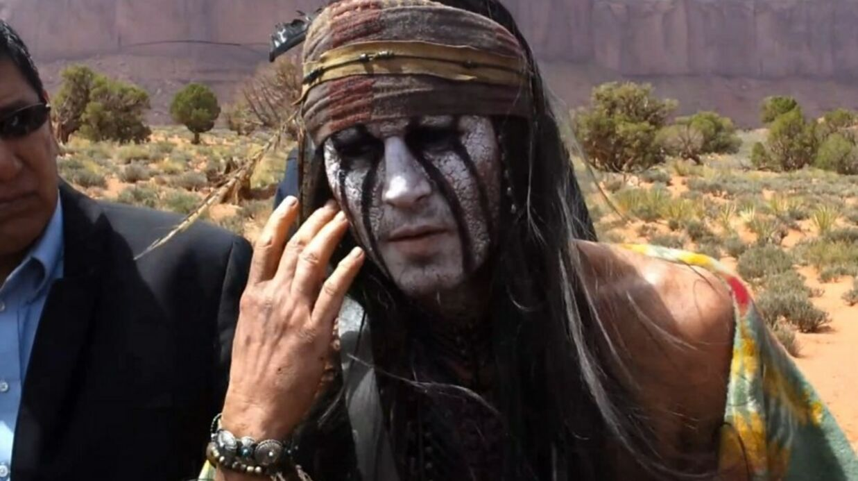 PHOTOS Johnny Depp déguisé en Indien pour The Lone Ranger