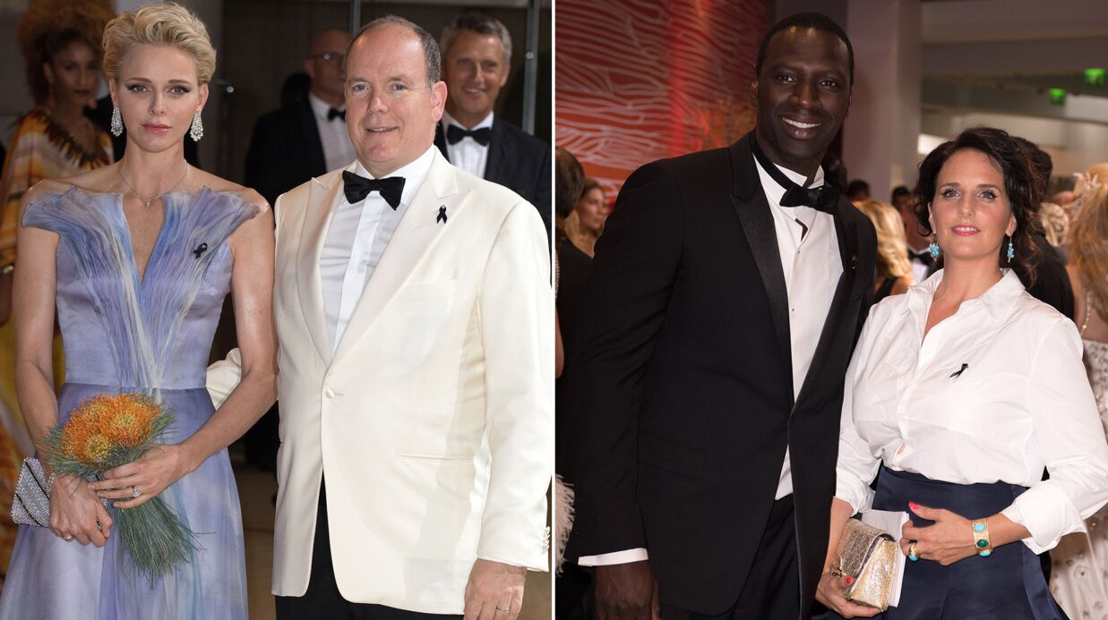 PHOTOS Albert et Charlène de Monaco élégants, Omar Sy et sa femme au top pour le Gala de la Croix-Rouge