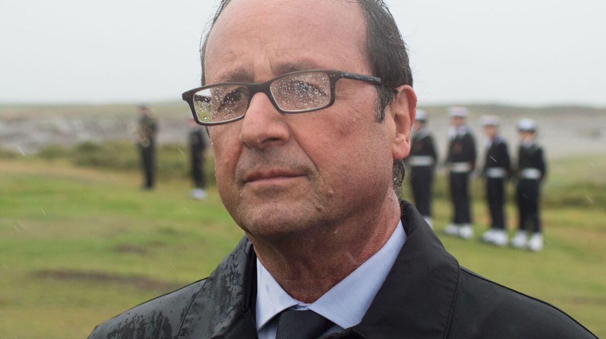 L'Elysée explique pourquoi François Hollande n'avait pas de parapluie sous le déluge