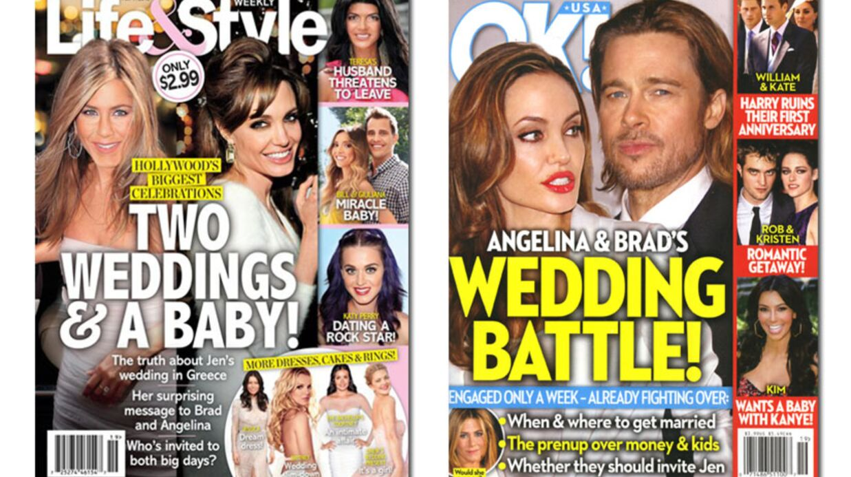 En direct des US: Katie Holmes enceinte, Brad & Angelina à la une