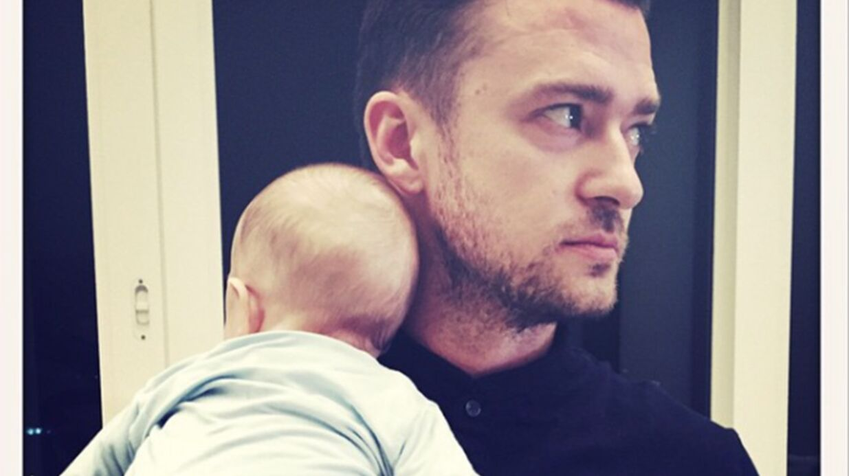 PHOTO Le tendre baiser de Justin Timberlake à son fils