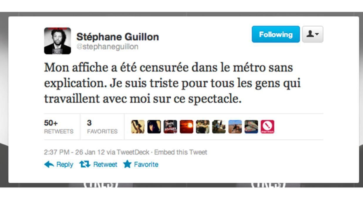 Une affiche de Stéphane Guillon interdite par la RATP