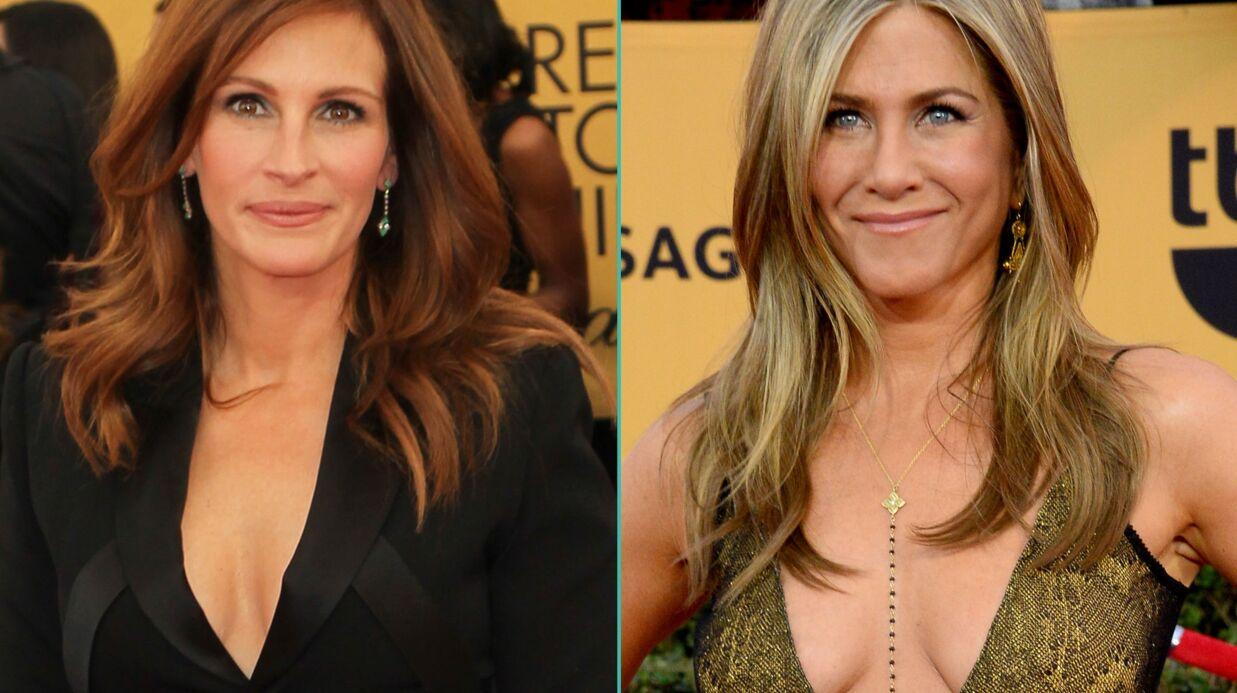 PHOTOS Jennifer Aniston et Julia Roberts ultra décolletées aux SAG Awards