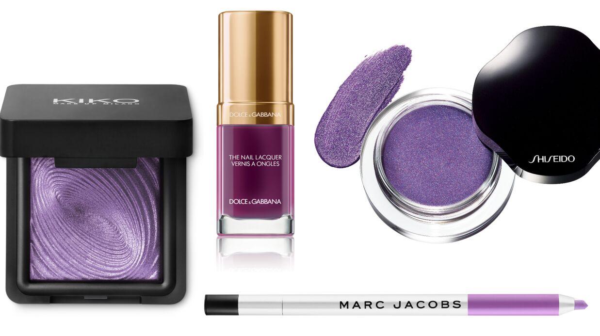 Shopping beauté: notre sélection maquillage de couleur violet