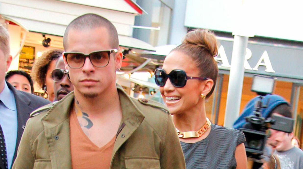 J-Lo et Casper Smart en famille à la plage