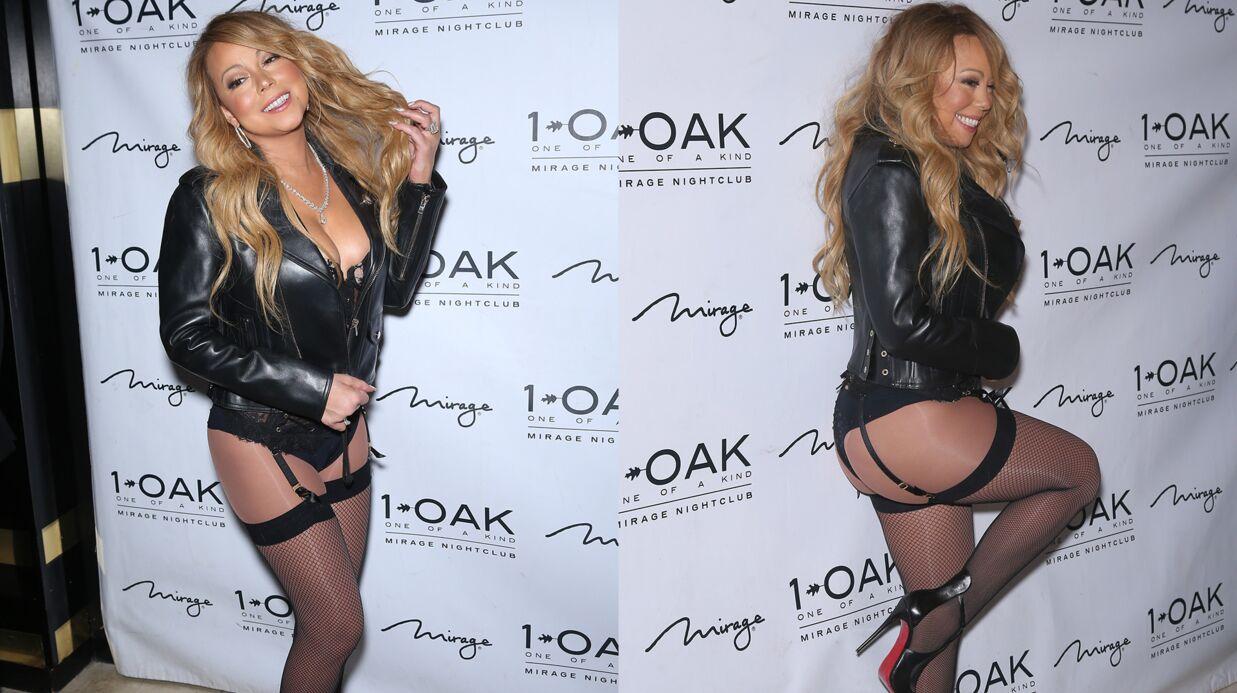 PHOTOS Mariah Carey débarque dans une boîte de nuit en porte-jarretelles