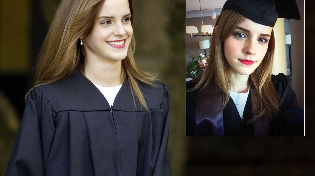 PHOTOS Emma Watson toute mignonne pour recevoir son diplôme