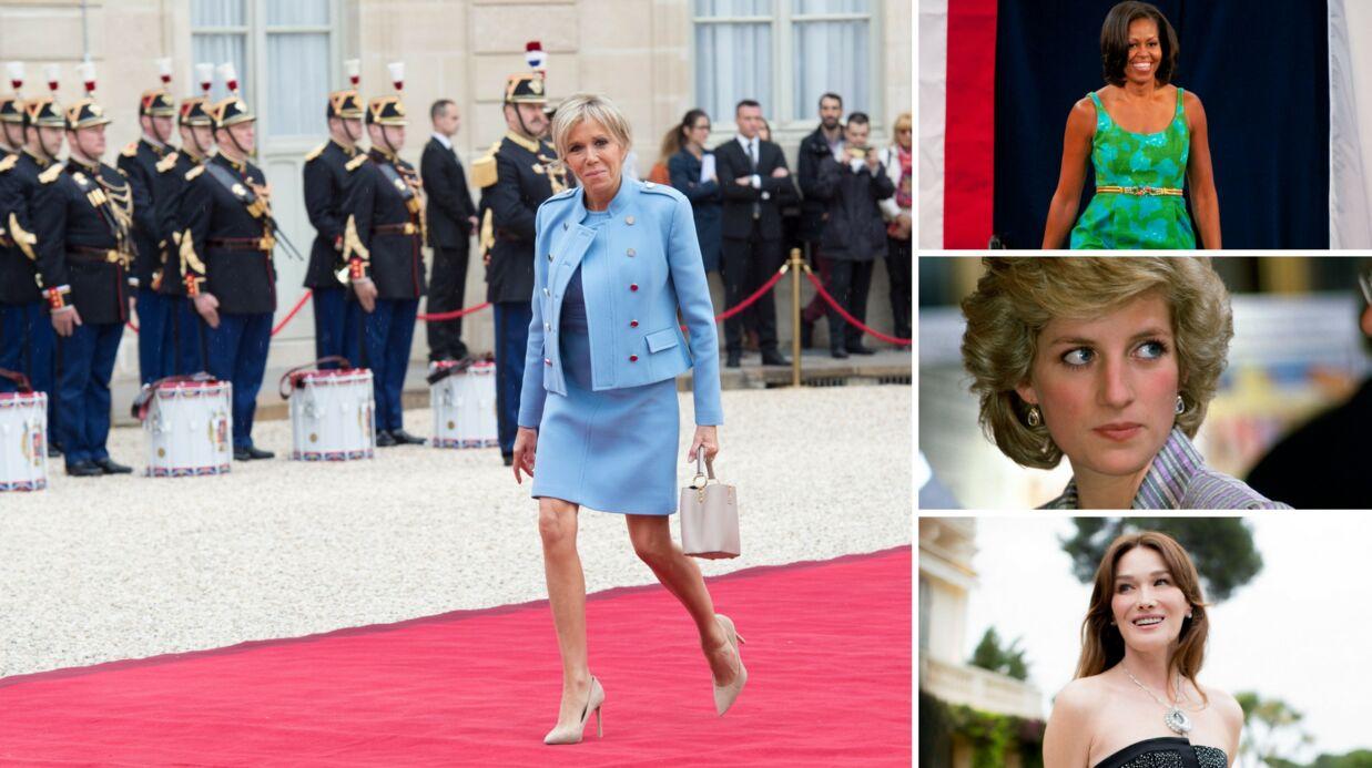 Brigitte Macron: les 10 tendances mode à piquer aux premières dames