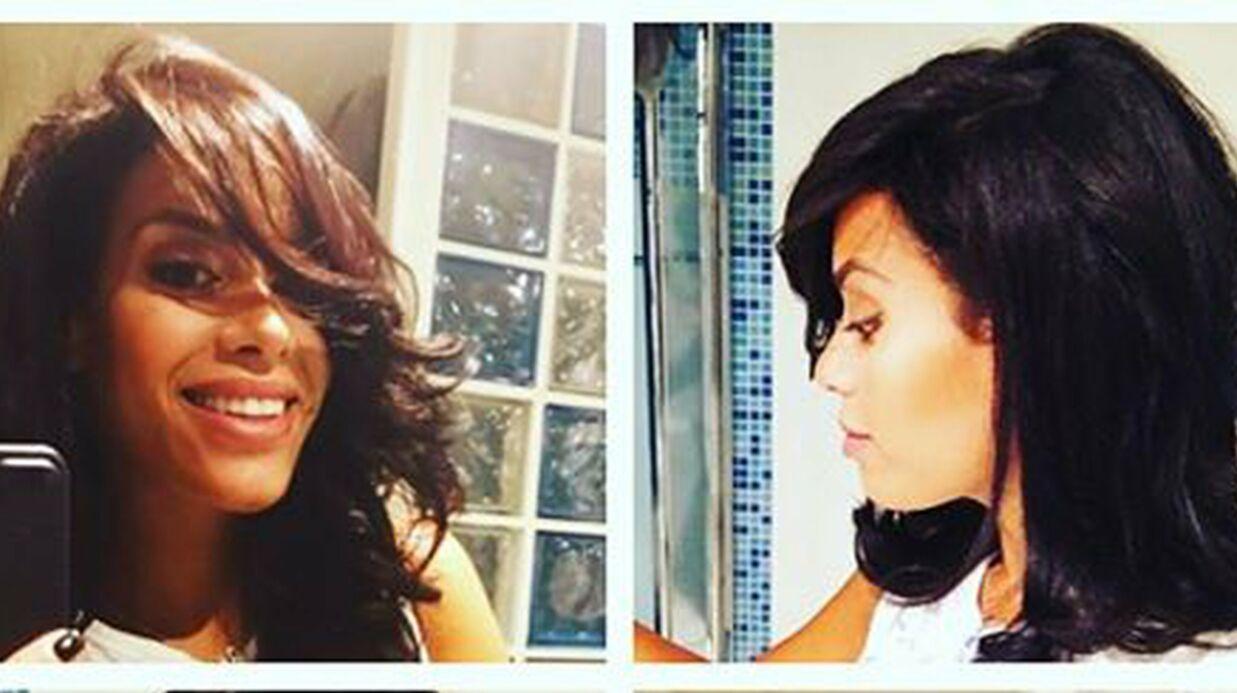 PHOTO En pleine nuit, Amel Bent teste un tuto coiffure (et le résultat est vraiment pas mal)