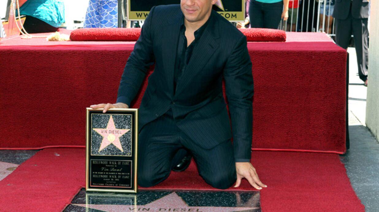 DIAPO Vin Diesel reçoit son étoile devant sa famille et Michelle Rodriguez