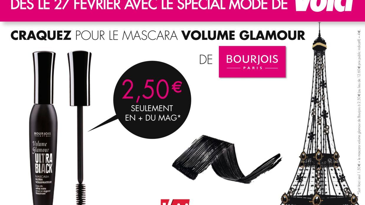 Un mascara volume glamour de Bourjois avec votre magazine Voici!