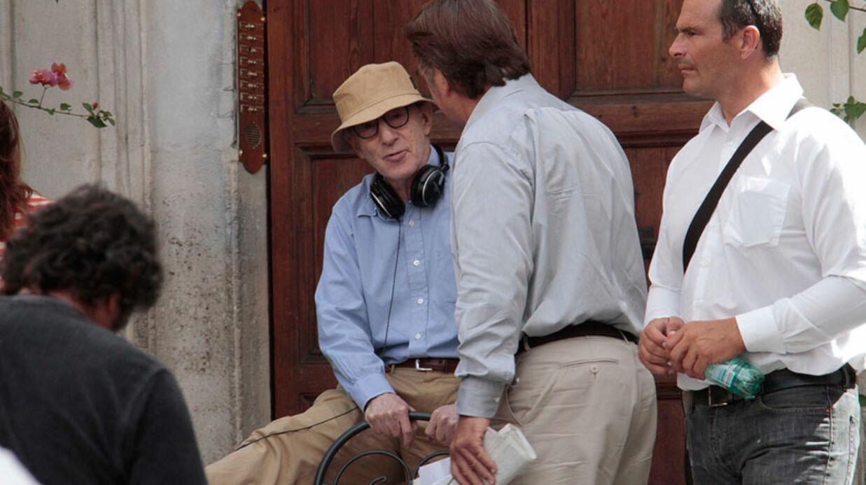 DIAPO Woody Allen fait du stretching en plein tournage