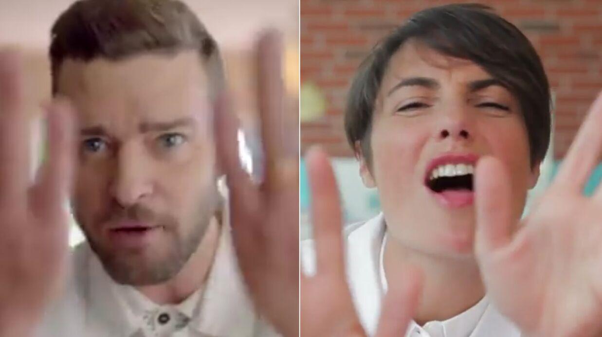 VIDEO Alessandra Sublet s'éclate en reprenant le clip de Justin Timberlake Can't Stop The Feeling