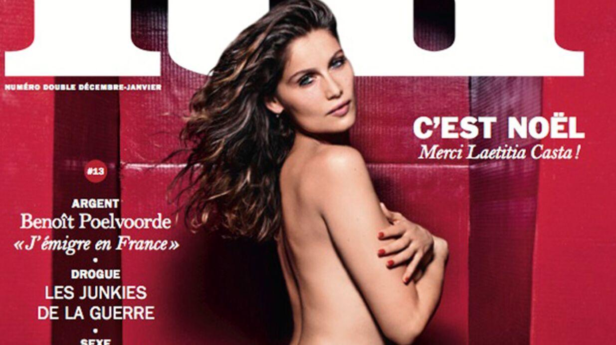 PHOTO Laetitia Casta entièrement nue sur la couverture de Lui