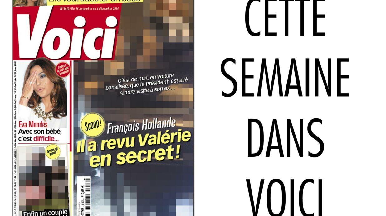 Exclu Voici – Les photos de la visite secrète de François Hollande à Valérie Trierweiler, chez elle