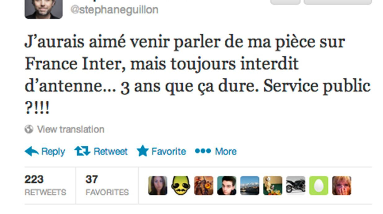 Stéphane Guillon accuse France Inter de l'interdire d'antenne