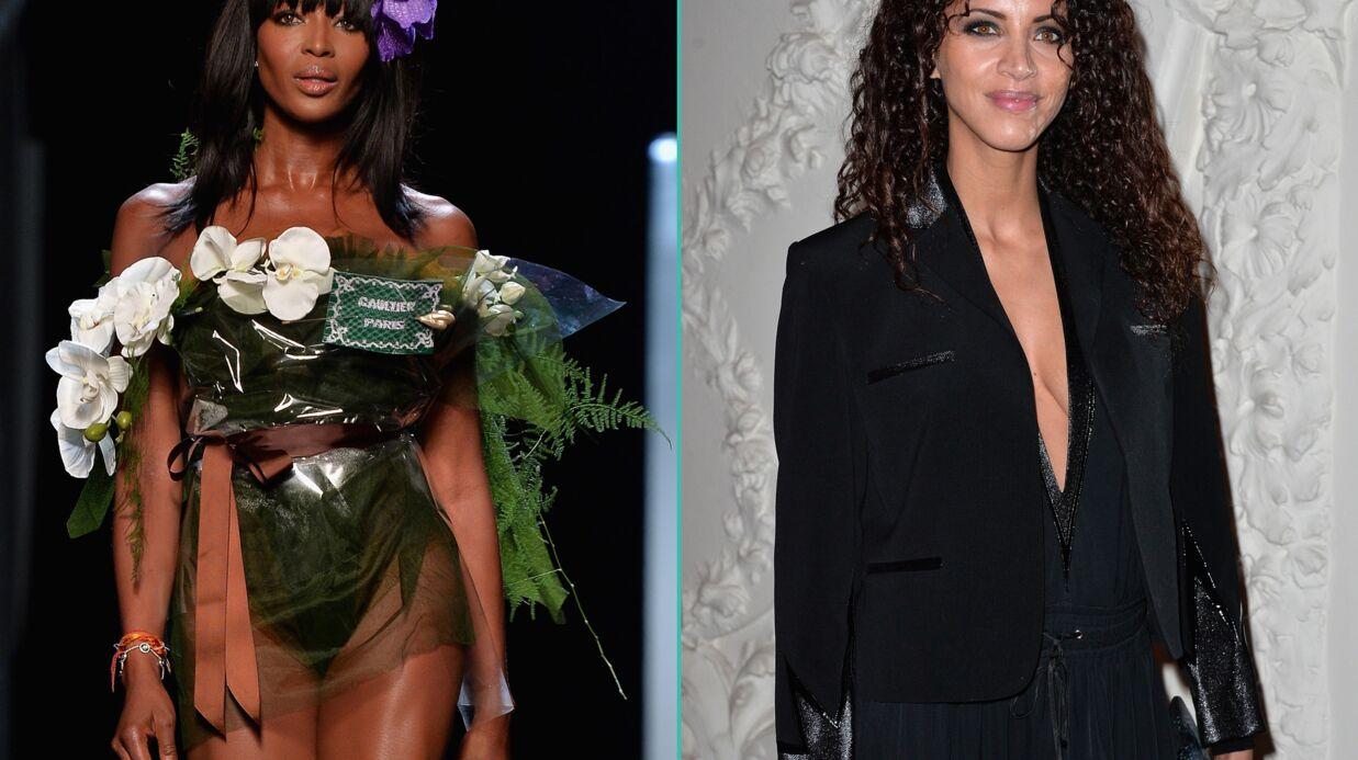 PHOTOS Naomi Campbell quasi nue et Noémie Lenoir décolletée pour Jean Paul Gaultier