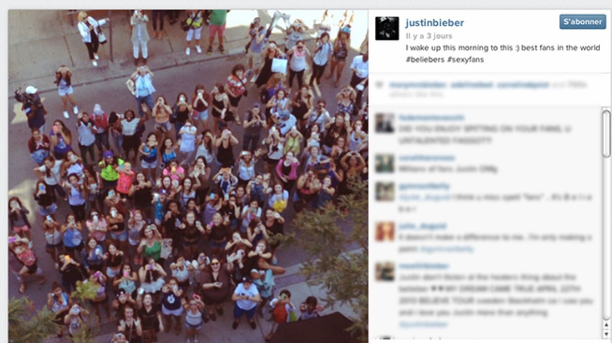 Justin Bieber aurait lâché un crachat sur ses fans