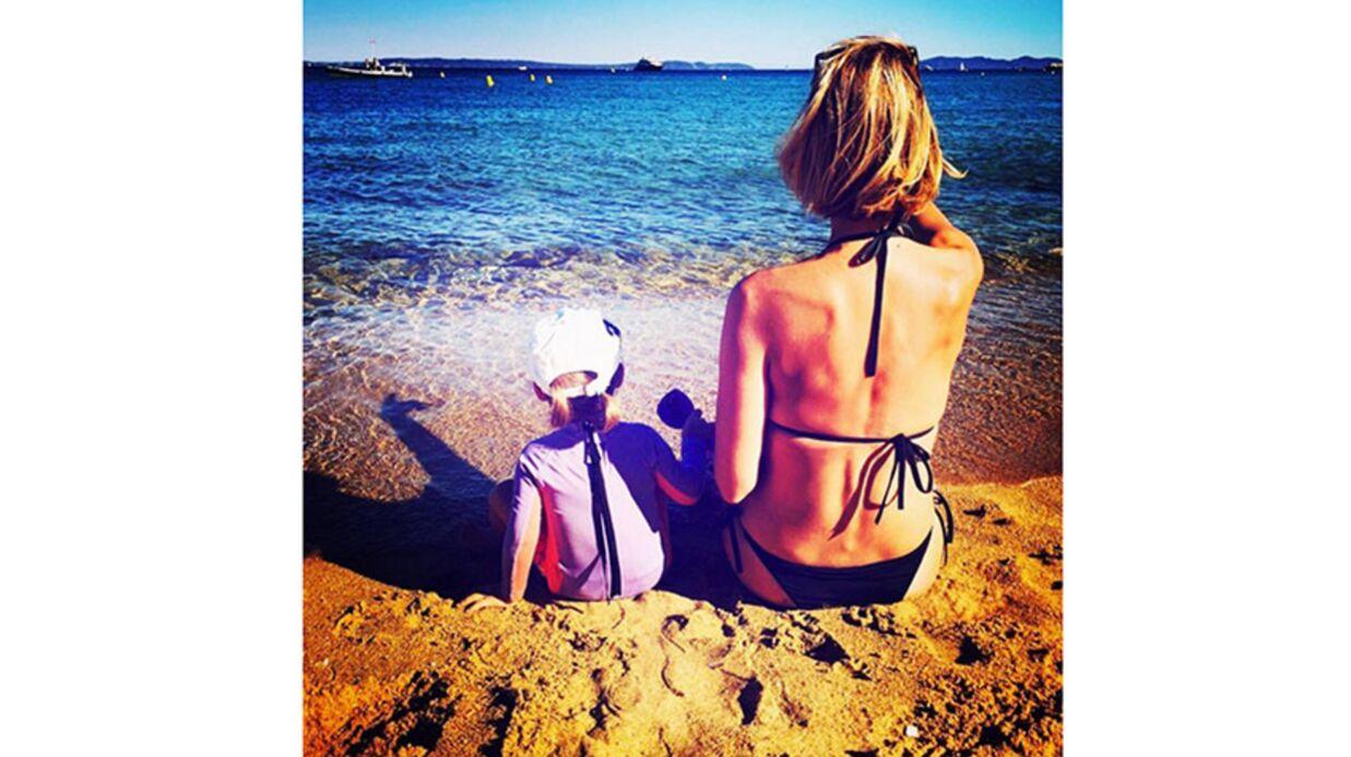 PHOTO Sylvie Tellier publie un adorable cliché avec sa fille à la plage