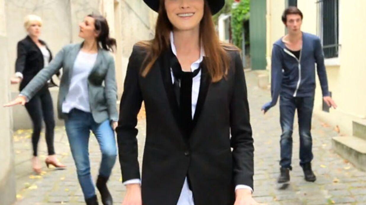 VIDEO Découvrez Carla Bruni dansant dans le Pingouin, son nouveau clip