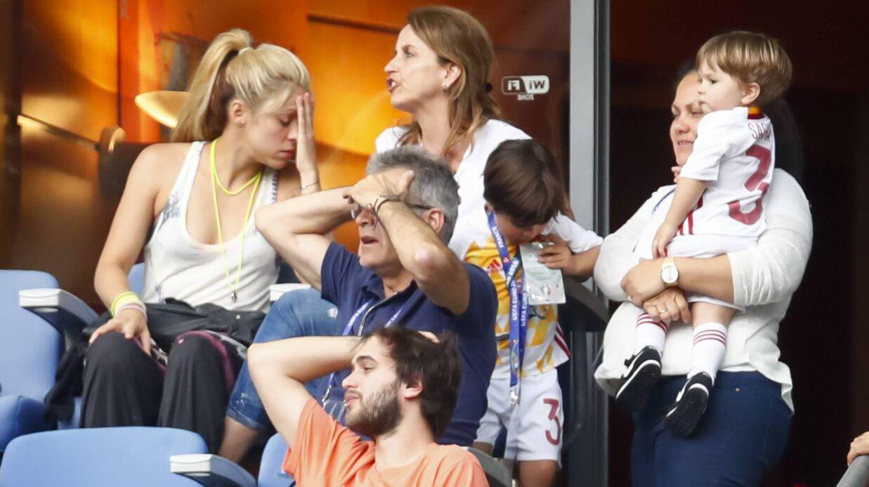 PHOTOS Euro 2016: Shakira dans tous ses états en tribunes du Stade de France pour Espagne-Italie